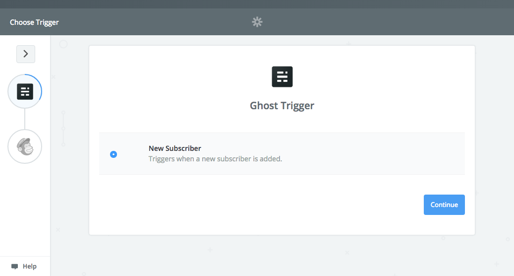 Zapier Ghost trigger selection