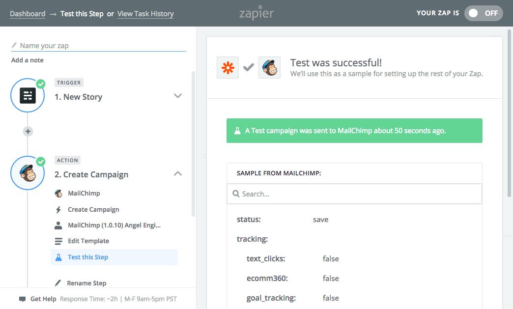 Mailchimp campaign integration complete